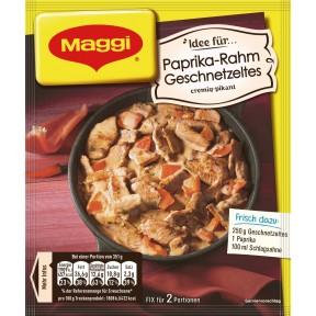 Maggi Idee für Paprika-Rahm Geschnetzeltes 43 g