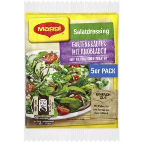 Maggi Salatdressing Gartenkräuter mit Knoblauch 5x 8 g