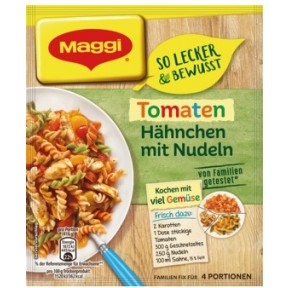 Maggi So lecker & bewusst Tomaten Hähnchen mit Nudeln 41 g