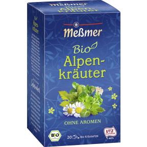 Meßmer Bio Tee Alpenkräuter 20ST 40G