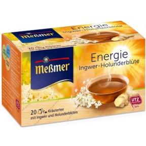 Meßmer Tee Energie Ingwer Holunderblüte