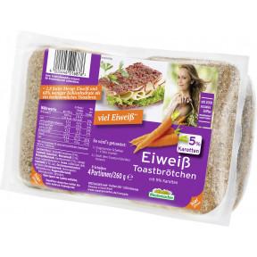 Mestemacher Eiweiß Toastbrötchen mit Karotten 4x 65G