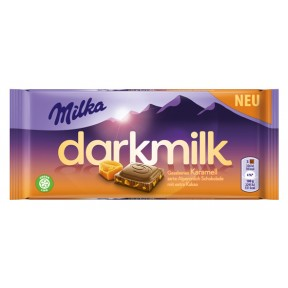 Milka Darkmilk Gesalzenes Karamell 85 g