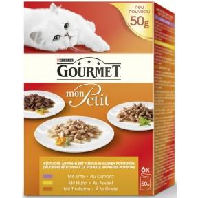 Purina Gourmet Mon Petit Multipack Geflügel Katzenfutter nass 6x 50 g