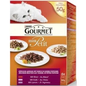 Purina Gourmet Mon Petit Multipack Fleisch Nassfutter für Katzen