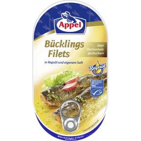 Appel Bücklingsfilets in Rapsöl und eigenem Saft 190 g