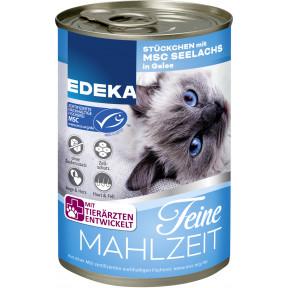 EDEKA Feine Mahlzeit Stückchen mit MSC Seelachs in Gelee Katzenfutter nass 400 g