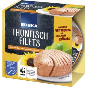 EDEKA Thunfischfilets in Sonnenblumenöl 185 g