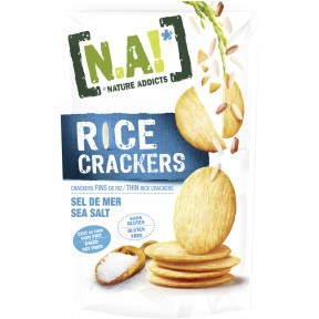 Nature Addicts Rice Crackers Meersalz