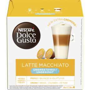 Nescafé Dolce Gusto Kapseln Latte Macchiato ungesüsst 8x 14,5G + 6G