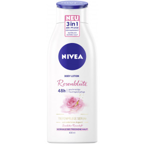 Nivea Body Lotion Rosenblüte Tiefenpflege Serum Arganöl 48h 400ML