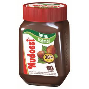 Nudossi Nuss-Nougat-Creme mit 36% Haselnüssen ohne Palmöl 300G