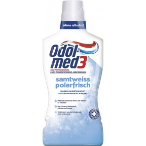 Odol Med 3 Mundspülung  Samtweiß Polarfrisch