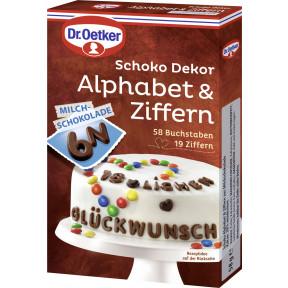Dr.Oetker Schoko Dekor Alphabet & Ziffern 58G
