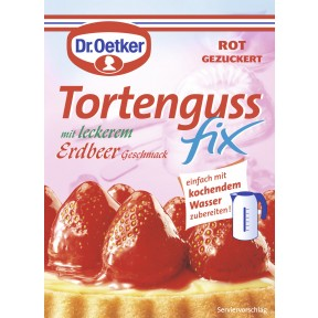 Dr.Oetker Tortenguss Fix mit leckerem Erdbeer-Geschmack