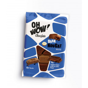 Oh Wow Chocolate Dark Nougat Deluxe 90G