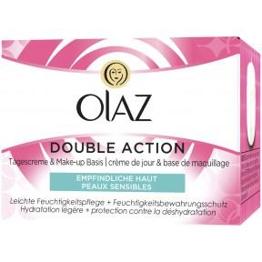 Olaz Double Action Tagescreme & Make-Up Basis für empfindliche Haut