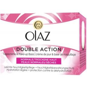 Olaz Double Action Tagescreme & Make-Up Basis für normale/trockene Haut