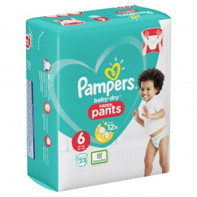 Pampers Baby-Dry Nappy Pants Gr. 6 15+kg 23 Stück