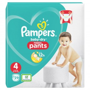 Pampers Baby-Dry Nappy Pants Gr. 4 9-15kg