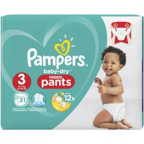 Pampers Baby Dry Midi Pants Gr.3 6-11kg