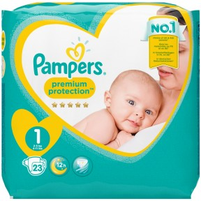 Pampers Premium Protection Gr.1 2-5kg 23 Stück