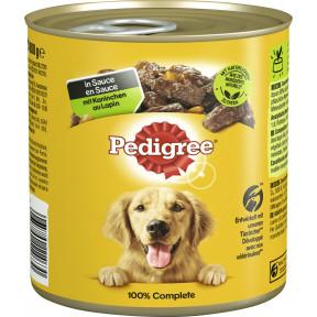 Pedigree mit Kaninchen in Sauce Hundefutter nass 800G