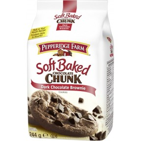 Pepperidge Farm Soft Baked Dark Chocolate Brownie Cookies