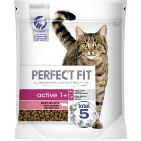 Perfect Fit active 1+ Reich an Rind Katzenfutter trocken 0,75 kg