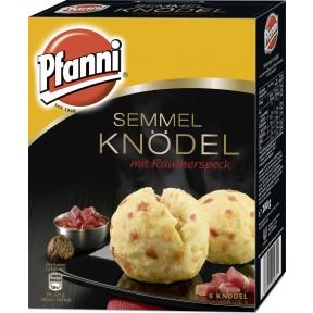 Pfanni Semmel Knödel mit Räucherspeck im Kochbeutel - 6 Knödel 200 g