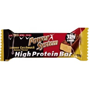 Power System High Protein Bar Bananen Geschmack 32% Eiweiss 35 g