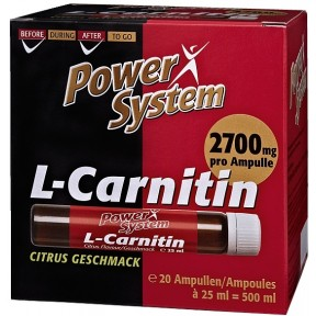 Power System L-Carnithin Ampullen Citrus Geschmack 20x 25 ml