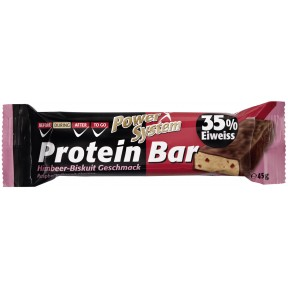 Power System Protein Bar Himbeer-Biskuit Geschmack 35% Eiweiss