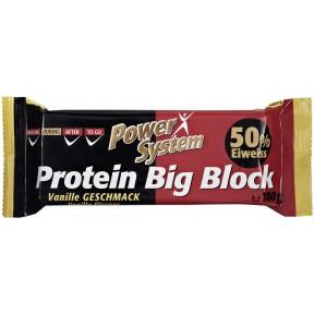 Power System Protein Big Block Vanille Geschmack 50% Eiweiss 100 g