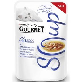 Gourmet Soup mit naturbelassenem Thunfisch und Garnelen