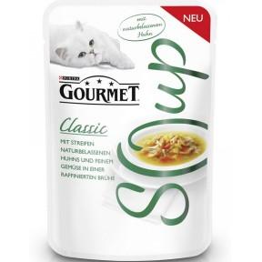Purina Gourmet Classic Soup mit naturbelassenem Huhn und Gemüse Katzenfutter nass 40 g