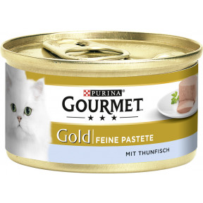 Purina Gourmet Gold Feine Pastete mit Thunfisch Katzenfutter nass 85 g