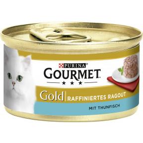 Purina Gourmet Gold Raffiniertes Ragout mit Thunfisch Katzenfutter nass 85 g