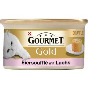 Purina Gourmet Gold Eiersoufflé mit Lachs Katzenfutter nass 85 g