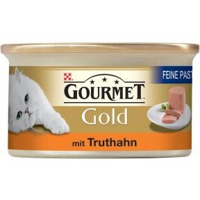 Purina Gourmet Gold Feine Pastete mit Truthahn Katzenfutter nass 85 g