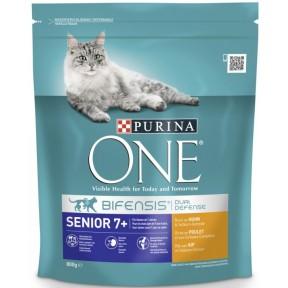 Purina One Cat Bifensis Senior 7+ reich an Huhn & Vollkorn-Getreide Trockenfutter für Katzen