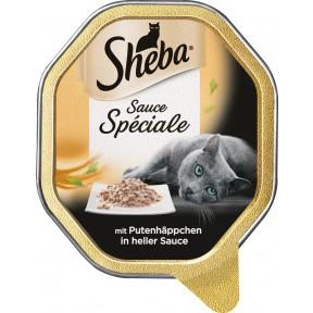 Sheba Sauce Spéciale mit Putenhäppchen in heller Sauce Katzenfutter nass