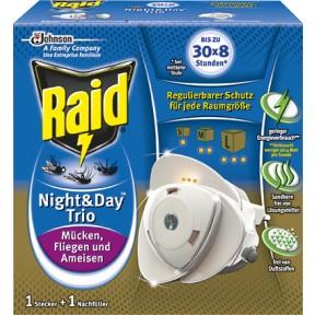 Raid Night & Day Trio Insekten-Stecker und Nachfüller 1 Stück