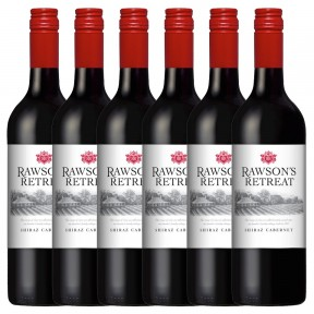 Penfolds 6x Rawsons Retreat Shiraz Cabernet Rotwein  2018