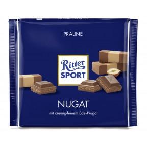 Ritter Sport Nugat Schokolade große Tafel