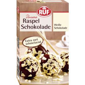 Ruf Raspel Schokolade Weiß 100 g
