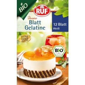 Ruf Bio Blattgelatine weiß 12 Blatt