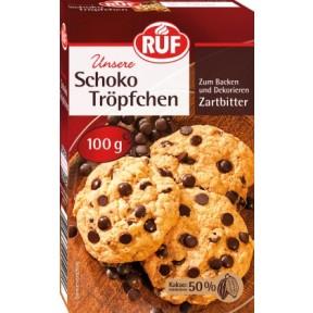 Ruf Schoko Tröpfchen Zartbitter 100 g