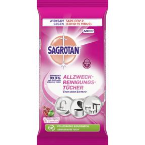 Sagrotan Allzweck-Reinigungstücher Granatapfel und Limette 60ST