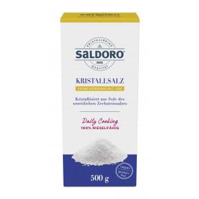 Saldoro Kristallsalz feine Körnung mit Jod 500G